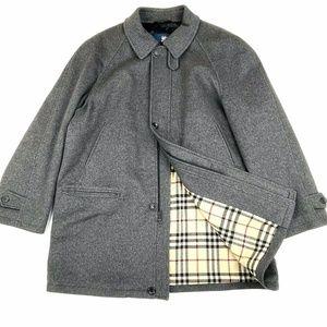 Burberry Paolo Nova Check Pea Coat Sz XL
